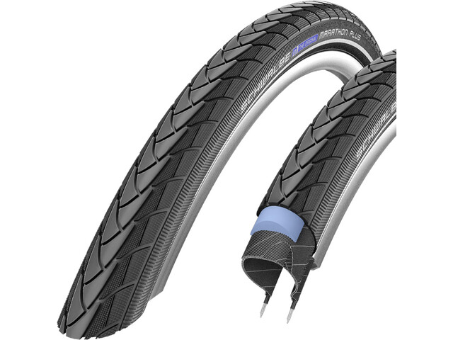 "SCHWALBE Marathon Plus Wired-on Tire SmartGuard Endurance Reflex 28x1.10"" black"